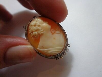 Antique Victorian Art Deco Shell Cameo Part 1 1/4 In X 1 In