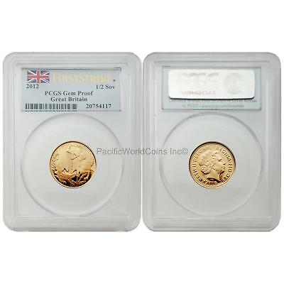 Great Britain 2012 1/2 Sovereign Gold PCGS Gem Proof Coin SKU# 6518