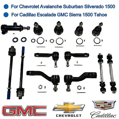 13pcs Suspension Kit Ball Joints Tie Rod Ends Sway Bar Link Pitman Arm Idler Arm