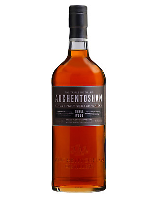 Auchentoshan Three Wood Scotch Whisky 700mL Lowland bottle
