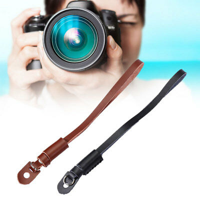 Genuine Leather Camera Hand Wrist Strap for SLR DSLR Camera Brown New