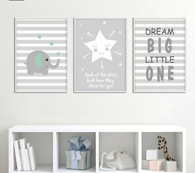 Canvas Art Nursery Poster Cartoon Quote Print Painting Wall Pictures For Bedroom
