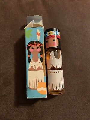 Vintage Avon .33 Oz Small World Rollette Native American