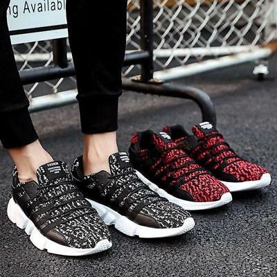 New Mens Leisure Lace Up Sneakers Athletic Shoes Breathable Running Shoes Hot YH
