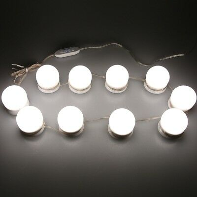 10W Makeup Mirror LED Lights 10 Hollywood Vanity Light Bulbs for Dressing Table