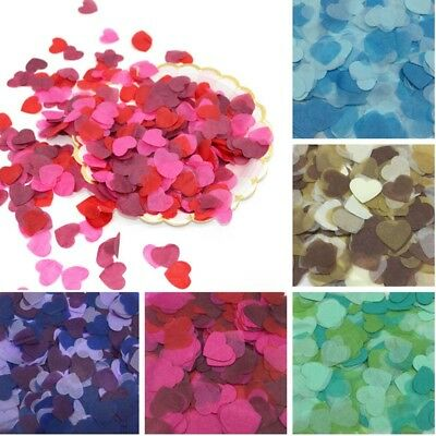10g 2.5cm Heart-shaped Tissue Paper Confetti Wedding Party Supply Decor
