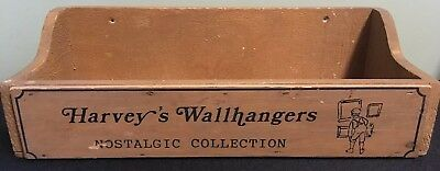 Store Display Harvey's Wallhangers Vintage Rare Box Shelf Advertising Sign Wood