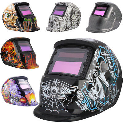 Auto Darkening Welding Helmet Mask Welders Arc Tig Mig Grinding Solar Powered