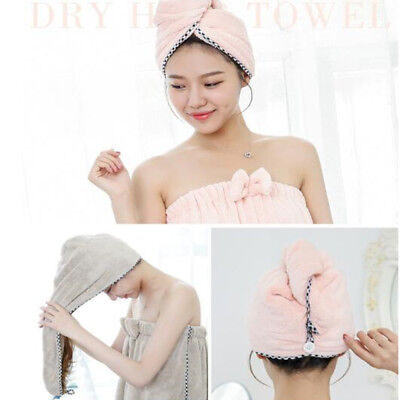 Drying Towel Magic Hair Cap Microfibre Quick Dry Turban For Shower Bath Pool