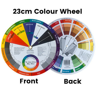 Artists Colour Wheel Mixing Colour Guide 23cm Artist Colour Wheel