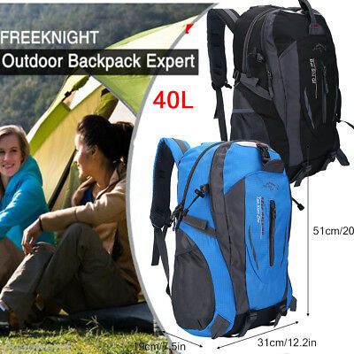 40L Waterproof Outdoor Sports Backpack Travel Hiking Camping Rucksack Bag New