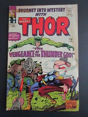 JOURNEY INTO MYSTERY #115  Marvel Comic Book - Thor!
