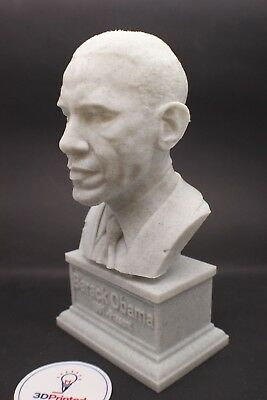 Barack Obama 7 inch 3D Printed Bust DC President Art FREE SHIPPING