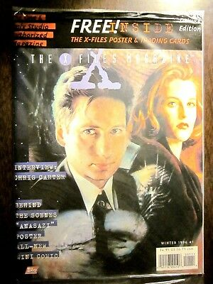 X-Files Magazine #1 Winter 1996 Sealed! + Poster + Trading Cards + Mini-Comic
