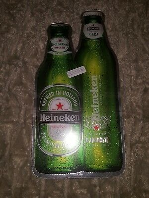 "New Heineken Beer Bottle Metal Tin Beer Sign Advertising 23"" Breweriana 2005"