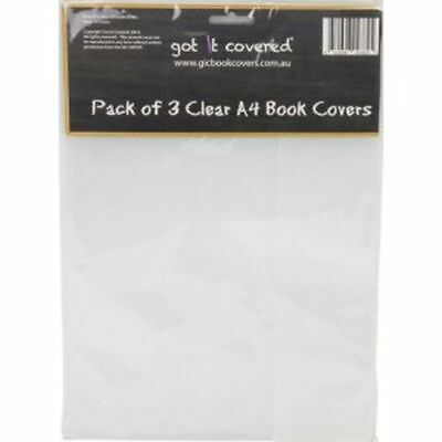 A4 School Book Cover - CLEAR SET 3