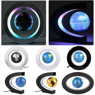 Magnetic Floating Globe LED Light Anti-gravity Levitating Rotating World Map C O