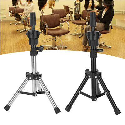 Adjustable Wig Head Stand Mannequin Tripod Holder for Hairdressing Training