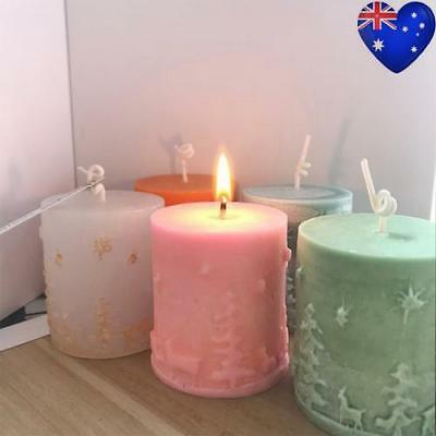 Christmas Tree Candle Mold Silicone Chocolate Soap Baking Craft Mould Xmas Decor