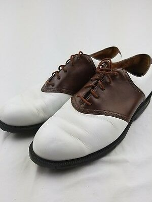04a3ea3e70b Nike Zoom Air Men s Golf Shoes Cleats Brown White Leather Gore Tex Size ...