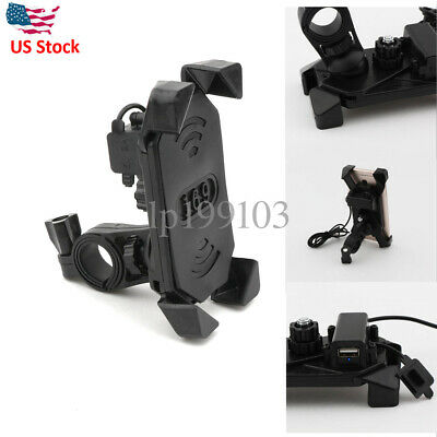 Motorcycle Bike Phone Holder USB Charger For Harley Electra Glide Ultra Classic