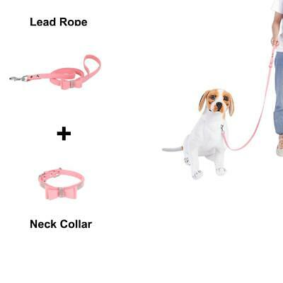 Cute Crystal Cat Dog Collars Fancy Bling Rhinestone Dog Necklace and Leash Pink