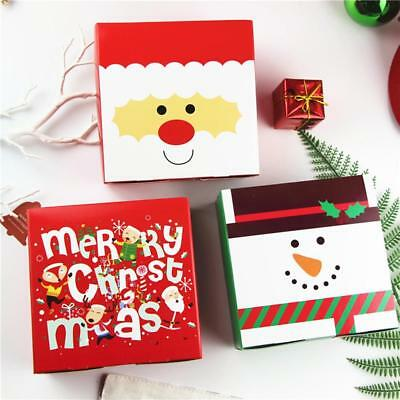 Christmas Gift Box Nougat Cute Candy Biscuits Cookies Wrapping Bag Box Decor