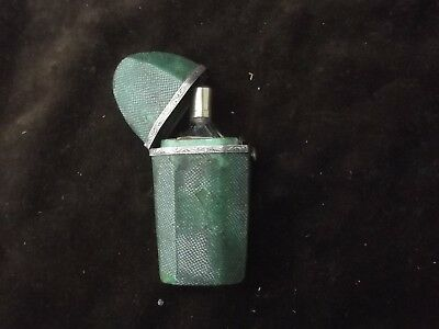 1780 rare Georgian Shagreen and silver mounted scent bottle holder with bottle