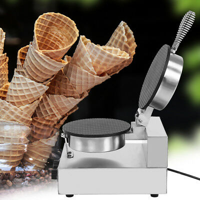 Electric Stainless Steel Ice Cream Egg Roll Maker Machine Non Stick Pan 110/220V