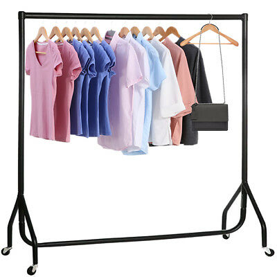 3 4 5 6 FT Heavy Duty Clothes Garment Rail Home Shop Hanging Display Rack Stand