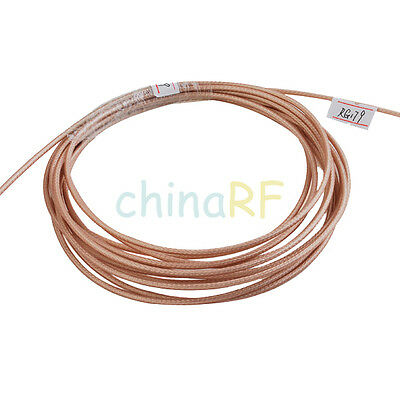 200 feet RF Coaxial cable Adapter Connector M17/94-RG179 Coax Cable 75ohm Hot