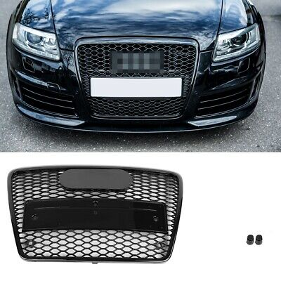 For Audi A6 S6 C6 4F5 Euro RS6 Front Sport Hex Mesh Honeycomb Grill S Line 05-11