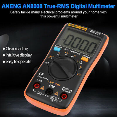 AN8008 True-RMS Digital Multimeter 9999 Counts Square Wave Voltage Ammeter AC/DC