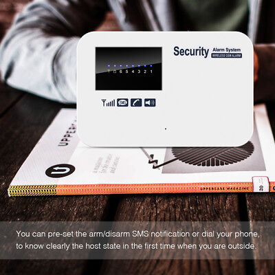 Wireless Home Security GSM 2G Alarm System IOS Android APP Control SMS Alarm