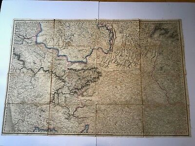 Seven  Antique Indian Maps dated 1820's 1830's