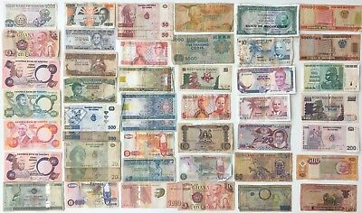 46 x Mixed Banknote Collection - AFRICA.  (2285)