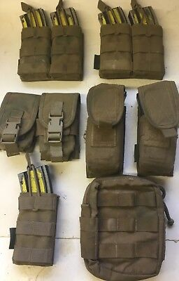Warrior Assault Systems Coyote Brown Pouches Assortment 8 Pouches In Total
