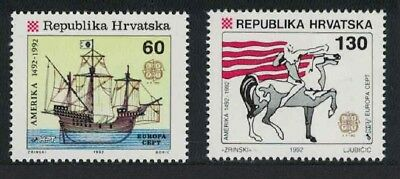 Croatia Europa 500th Anniversary of Discovery of America by Columbus 1st issue