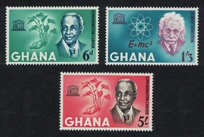 Ghana Albert Einstein UNESCO Week 3v MNH SG#354-356