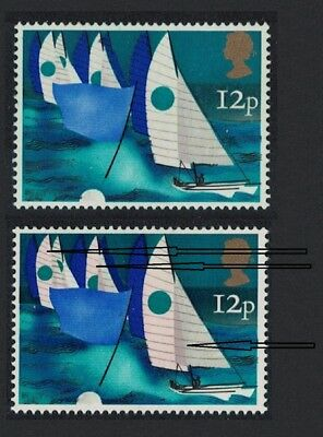 Great Britain Sailing 1v 12p ROSE Omitted UNCATALOGUED in Gibbons MNH SG#983