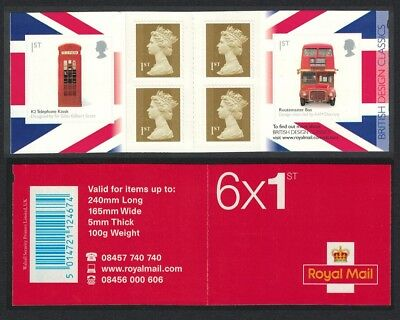 Great Britain Telephone Kiosk Bus Design Classics Booklet MNH SG#PM16
