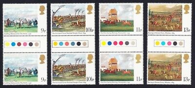 Great Britain Horseracing Paintings 4v Gutter Pairs Traffic Lights MNH