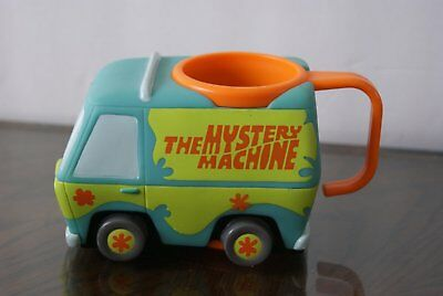 Cartoon Scooby Doo Mystery Machine Mug Cup Hard Plastic Applause - NEW van Scoob