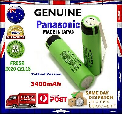 Panasonic NCR 18650 B 3400mAh TABBED Li-Ion Rechargeable Battery