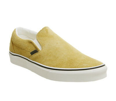 d68b2049bd Vans Vans Classic Slip On Trainers Sunflower Snow White Hairy Suede Trainers  Sho