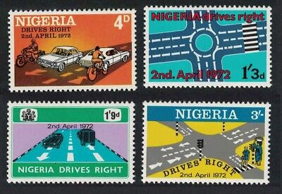 Nigeria Change to Driving on the Right 4v MNH SG#273-276