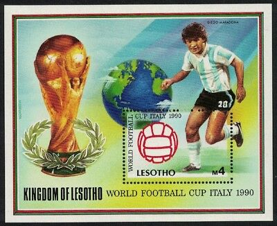 Lesotho World Cup Football Championship Italy MS MNH SG#MS946