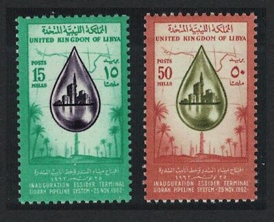 Libya Inauguration of Essider Terminal Sidrah Oil Pipeline 2v MNH SG#282-283
