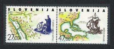 Slovenia Discovery of America by Columbus 2v pair MNH SG#157-158