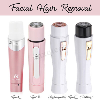 Electric Women's Facial Face Body Hair Removal Remover Trimmer Shaver Painless